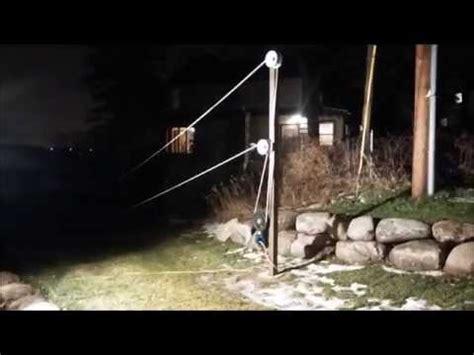backyard rope tow inaugural run of our backyard rope tow youtube