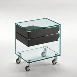 piccoli comodini piccoli tavoli comodini in vetro tonelli design
