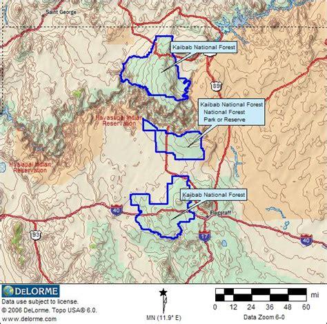 arizona national forest map arizona rv cing williams rv cing