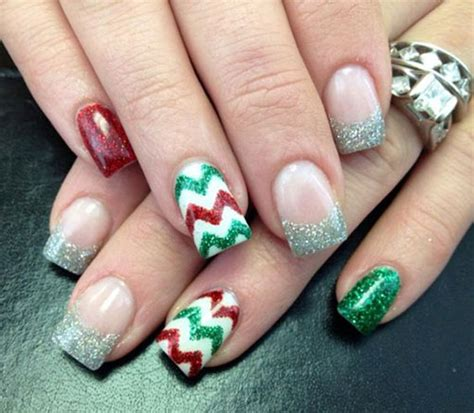 Weihnachts Nägel 2017 by 15 Glitter Acrylic Nail Designs 2016