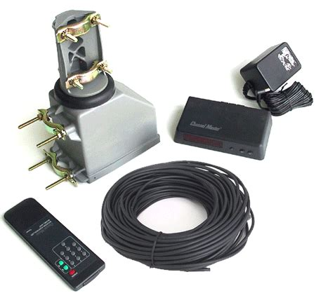channel master cm9521a complete antenna rotator kit with infra remote and 100 ft