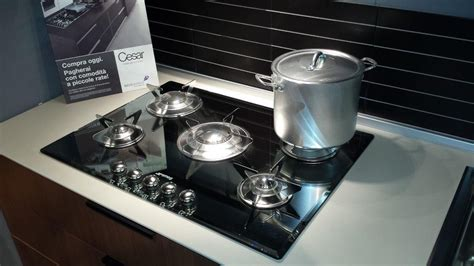 piano cottura smeg vetro cucina cesar legno in offerta cucine a prezzi scontati
