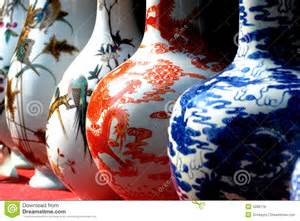 Pottery Vases Handmade Chinese Porcelain Vase File Royalty Free Stock Photos