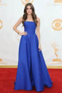 allison williams royal blue simple strapless corset emmys 2013 red carpet dress xdressy