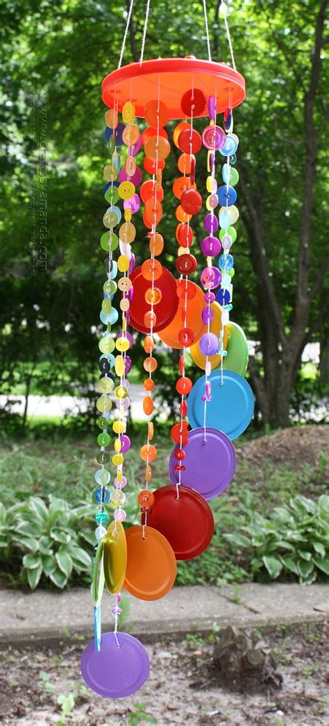 wind chime craft for rainbow button wind chime crafts by amanda