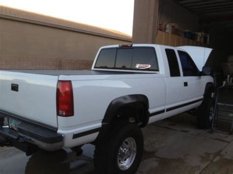how to learn about cars 1998 gmc 2500 club coupe parking system find used 1998 gmc 2500 4x4 truck sierra white chevy original owner 454 7 4mpi in glendale