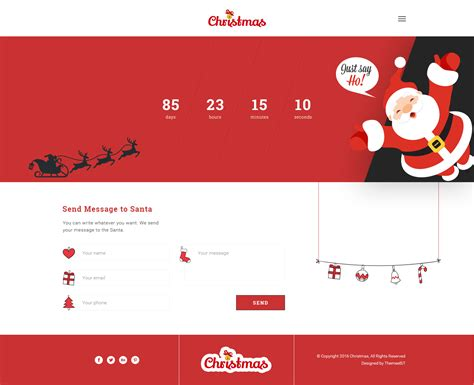 christmas new year psd template by themeebit themeforest