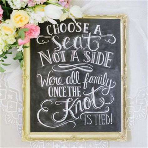 Wedding Quotes A Seat Not A Side by Val Choose A Seat Not A Side Print Wedding