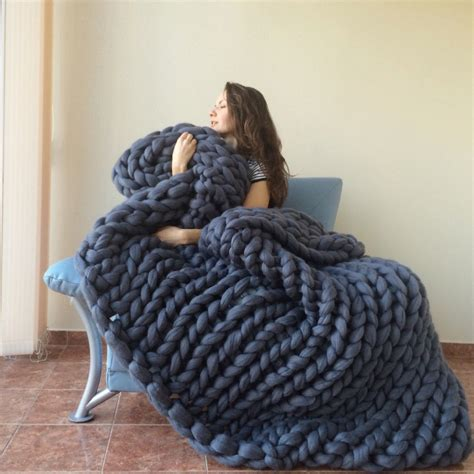 knitting a large blanket aliexpress buy chunky blanket yarn wool