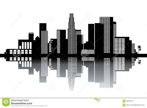 los angeles skyline stock vector image of holiday poster