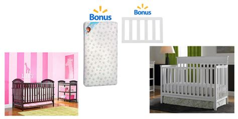 Walmart Cribs With Mattress Walmart Free Mattress Or Toddler Rail With Crib Purchase The Savvy Bump
