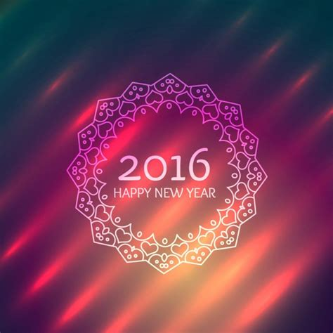 new year photo frame editor happy new year design in ornamental frame vector free