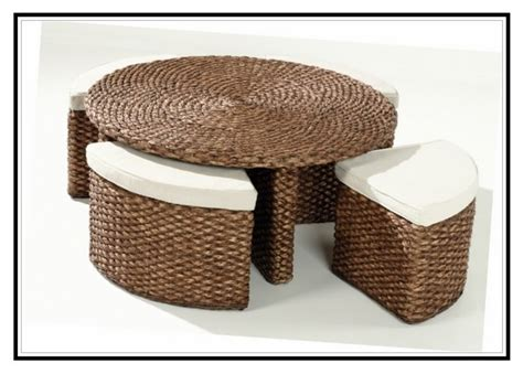 Rattan Coffee Table With Stools by Rattan Coffee Table With Stools Coffee Table Stools