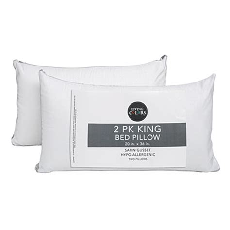 pillows for king size bed view living colors king size bed pillows 2 pack deals at
