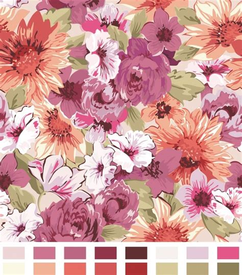 flower pattern for painting vector watercolor painting flowers free vector download