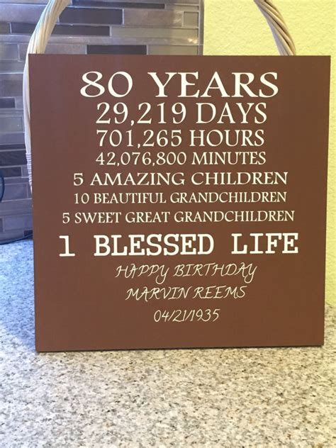 Gifts For 80 Year - 80 year birthday by creativesignsbytal on etsy
