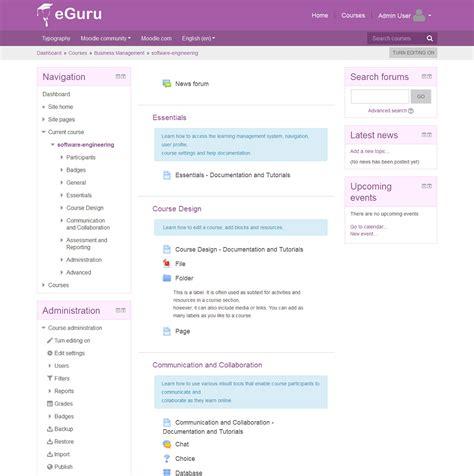 moodle themes eguru moodle plugins directory eguru