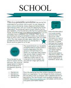 School Newsletters Templates by 22 Microsoft Newsletter Templates Free Word Publisher