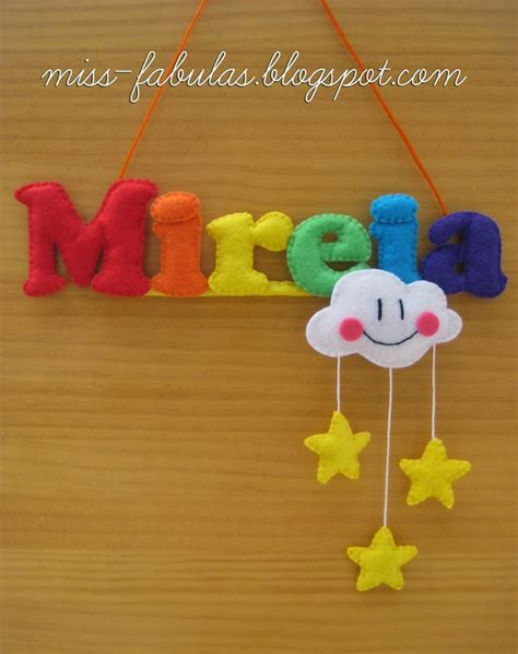floreros con nube 84 best images about baby name felt nombre bebe fieltro