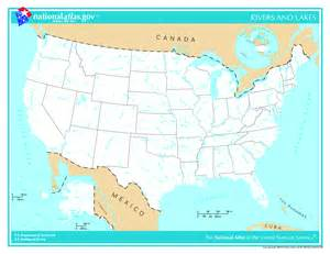 maps united states map river and lakes
