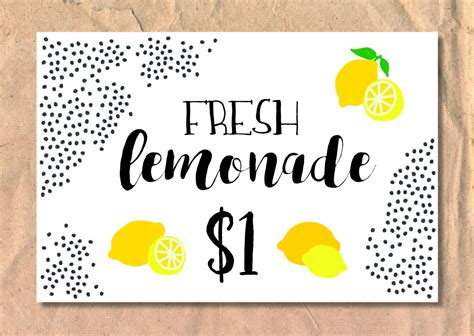 design poster board sign lemonade stand sign poster by frelladesigns on etsy