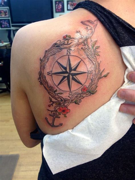 compass tattoo with globe and anchor anchor dove compass tattoo 03 01 2014 my body art