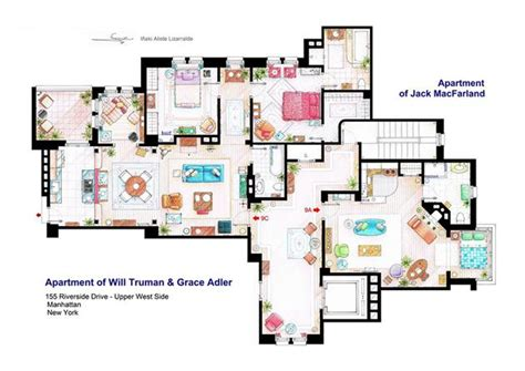 sitcom house floor plans television show home floor plans hiconsumption