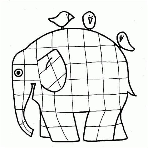 Elmer Elephant Coloring Page Az Coloring Pages Elmer Colouring Pages