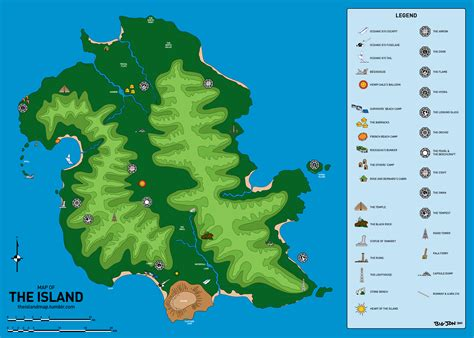 the islands map mapping the island from lost atlas of and