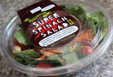 trader joes super spinach salad eating  joes