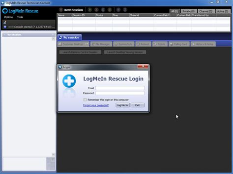 logmein console logmein rescue technician console software informer