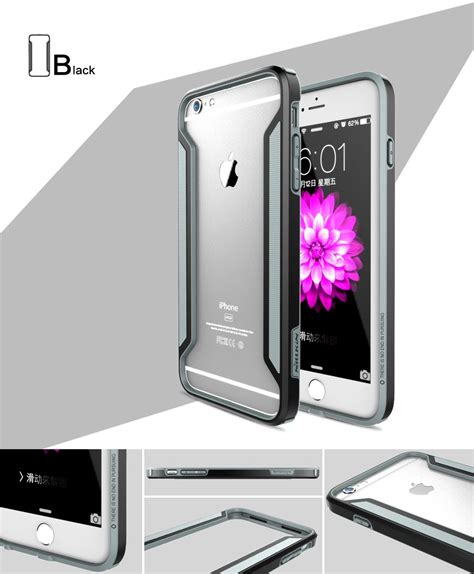 Iphone 6 Plus Armor Cover Bumper Casing Mewah Keren Gaul nillkin armor border bumper para iphone 6s plus 6 plus funda lateral ebay