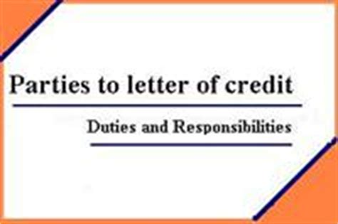 Bank Involved In Letter Of Credit Letter Of Credit Presentations Lc International Letter Of Credit Presentations