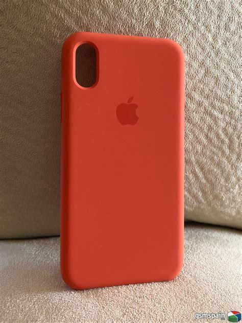 fundas silicona iphone vendo funda silicona naranja iphone x