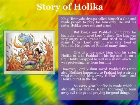 what is the story of day holi festival of india