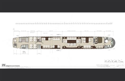 boeing business jet floor plans pr architects