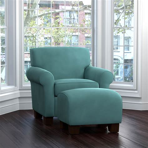 Handy Living Winnetka Chair And Ottoman Set Turquoise