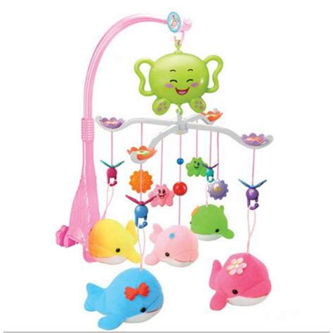 Musical Baby Crib Mobile Baby Crib Musical Mobile Cot Bell With 12 Light Holder Arm Baby Bed Hanging Rattle Toys