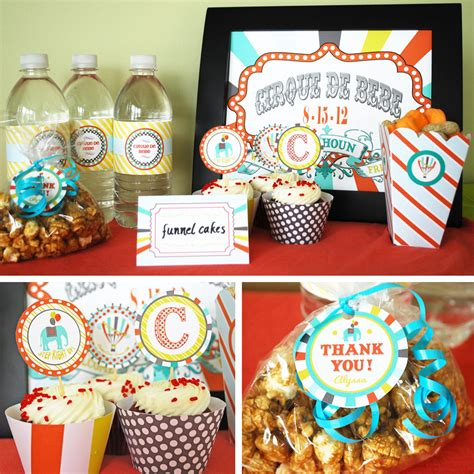 Circus Baby Shower by Circus Baby Shower Printable Collection Custom By Cardvarkdesigns