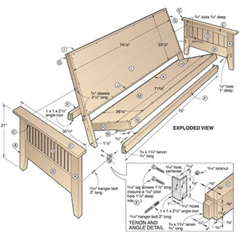 Wooden Futon Frame Plans pdf diy wood futon bed frame plans wood craft