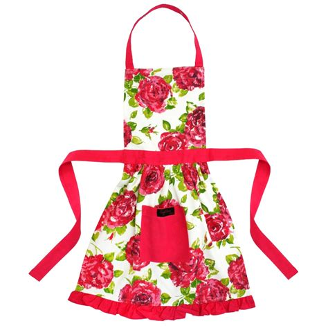 Apron Pink by Betsy Frilly Apron Pink