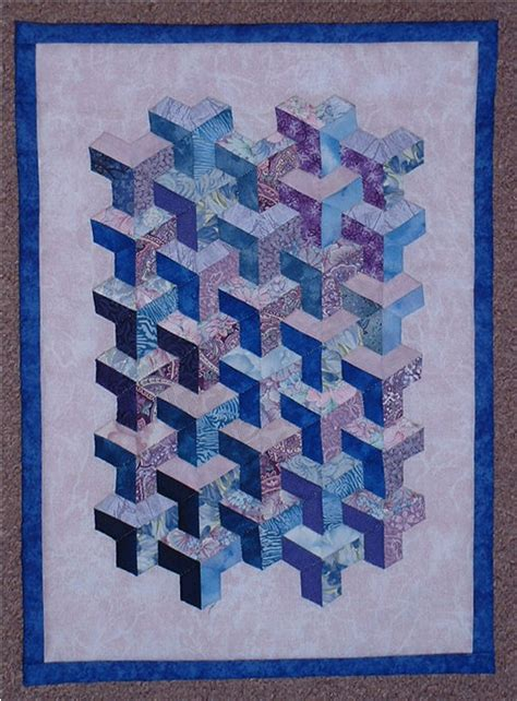 City Quilts by Inner City Hexagons Tumbling Blocks On