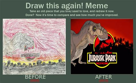 Meme Generator Jurassic Park - jurassic park old and new draw this again meme by