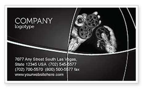 mechanic business cards templates free mechanic gears business card template layout