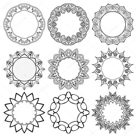 cornici rotonde set di cornici rotonde con il mandala elementi decorativi