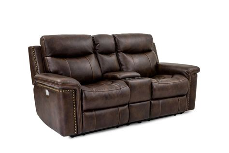 leather reclining sofa with console cheers sofa phoenix xw5258hm ls leather power reclining