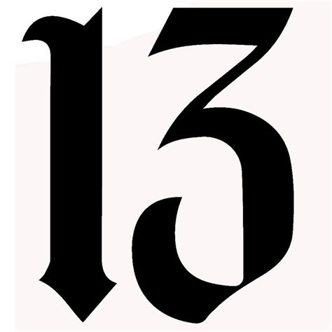 number 13 tattoo fonts www imgkid com the image kid