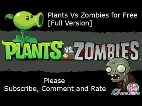 full version plants vs zombies free plants vs zombies crack for free full version youtube