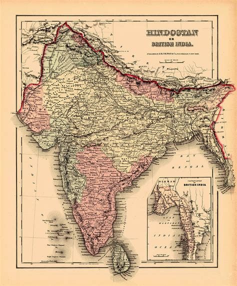 Home Decor Blogs India map of india 1857 photograph by andrew fare