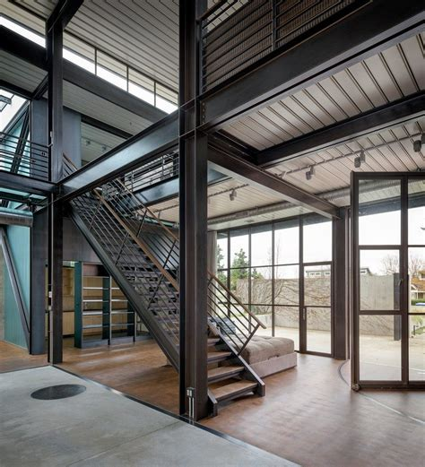 modern industrial house plans contemporary industrial house features an expressive interior of raw steel